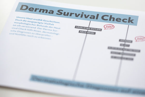 Derma Survival Check – Faltflyer